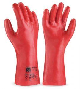 Guante PVC rojo